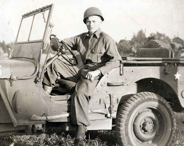 Here is a classic GI picture on a jeep. The jeep became an indispensable tool during World War II because of its ability to go anywhere. The Jeep was used by every Allied country, served in every theater of war, and performed a variety of tasks.