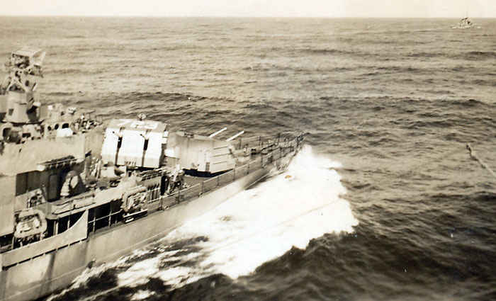 USS Walke Destroyer. While steaming off the Korean coast with TF 77, Walke struck a floating mine, which severely damaged her hull, killed 26 men, and wounded another 40 sailors.