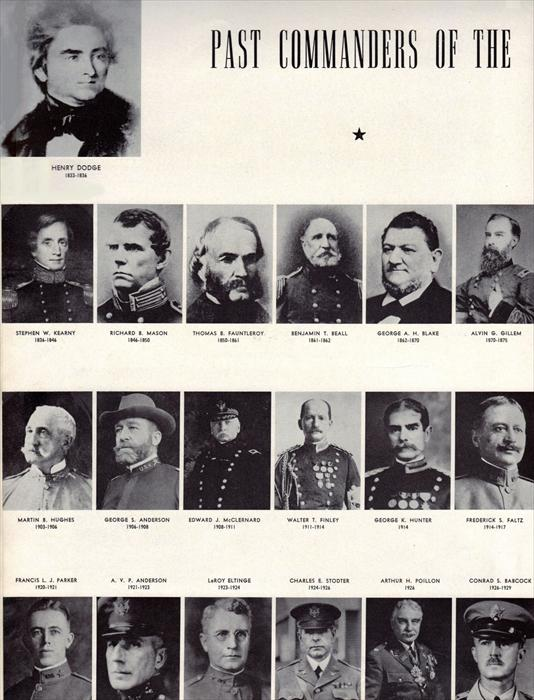 Pics of Past Commanders of the 1st Armored Regiment