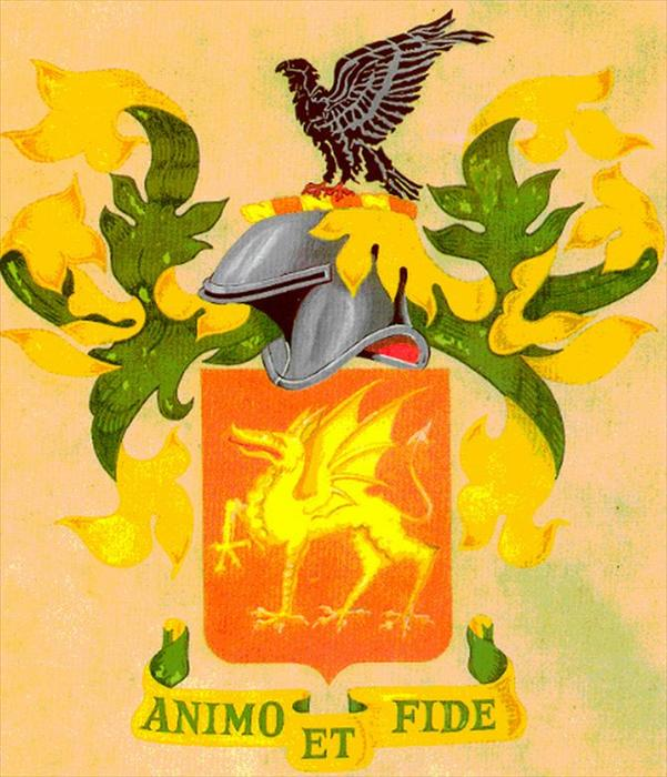 Colored picture depicting the 1st Armored Regiment's regimental flag.