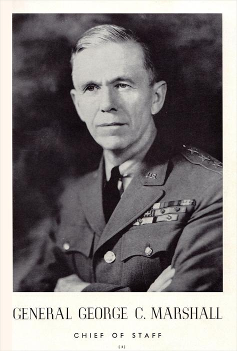Then-General George C. Marshall, Chief of Staff, circa 1941.