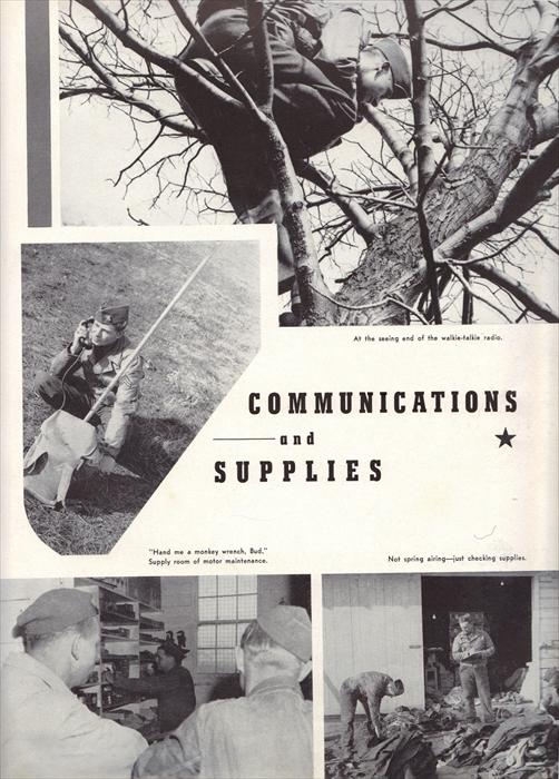 Communications and supplies.