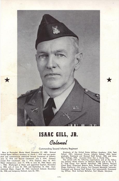 Colonel Isaac Gill Jr., 2nd Infantry Regiment Commander.