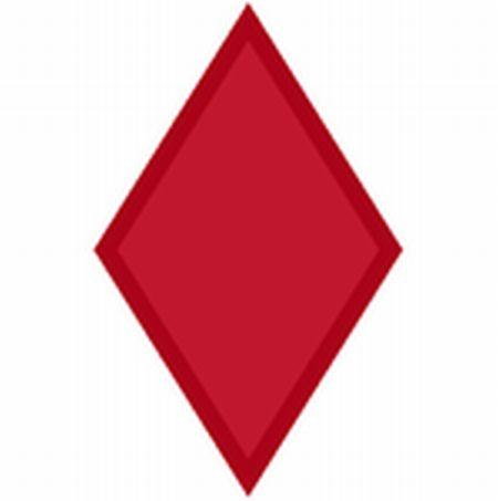 Modern 5th Infantry Division 'Red Diamond' shoulder sleeve insignia (SSI).