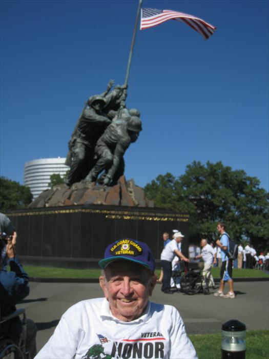 World War II Veteran Bob Lamp reflects on the honor and bravery of all American Service heroes represented by the Iwo Jima Memorial in Washington, D.C.