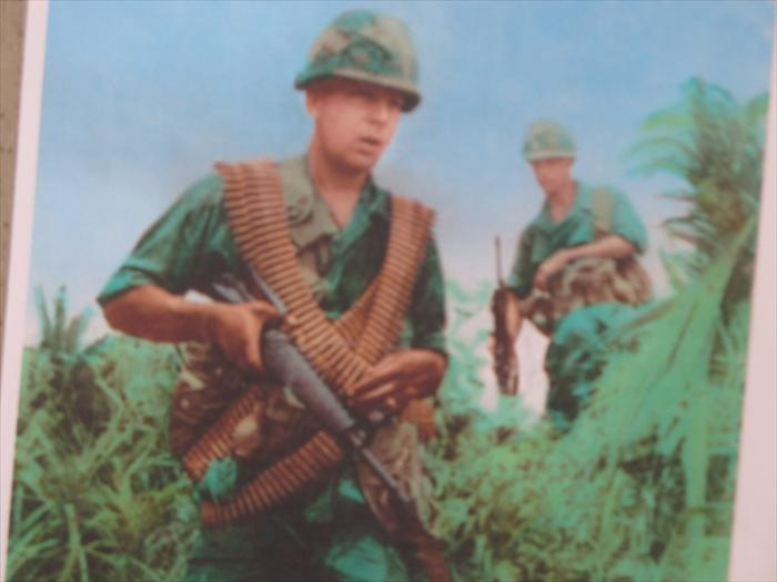 Larry Wade on patrol in South Korea 1969 with 2nd .inf.div.Katusa's