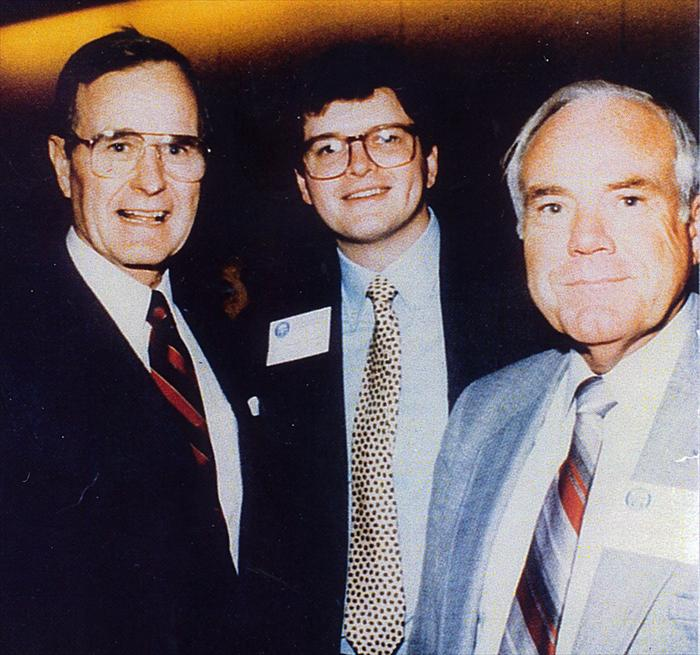 BIll Taylor far right with President George Bush.