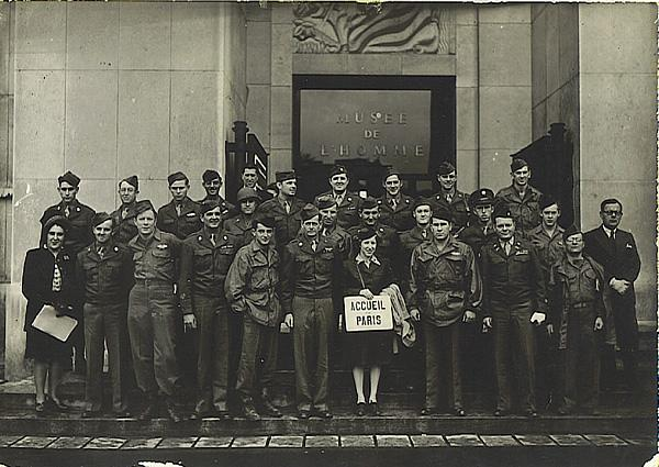 On tour as guests of the Mayor of Paris - September 1945. James is bottom row, third from left.