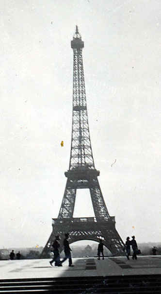 Eiffel tower Paris, France 1946
