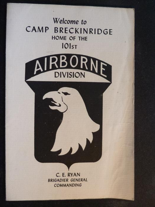 Ken Klinger memorabilia-Armed Forces Day at Camp Breckinridge, 1951, Cover.