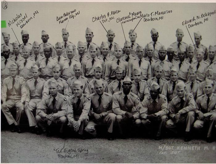 "101st Airborne, 516th Reg. ""G"" Company Basic Training graduation photo.  P. 4 of 5."