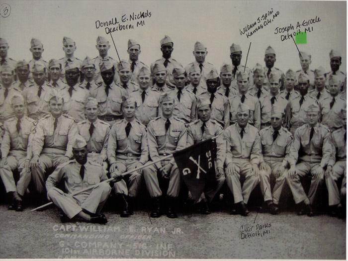 "101st Airborne, 516th Reg. ""G"" Company Basic Training graduation photo.  P. 3 of 5."