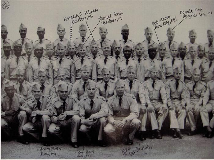 "101st Airborne, 516th Reg. ""G"" Company Basic Training graduation photo.  P. 2 of 5."
