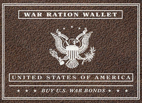 Official War Ration Wallet that is in mint shape. Still contains all the stamps.