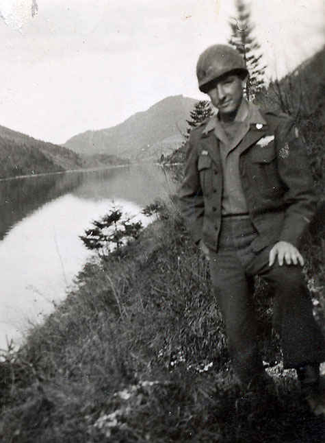 My grandfather by a Lake in Hallein, Austria.