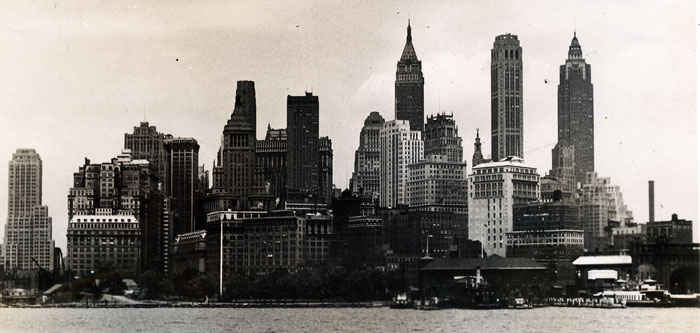 New York City from Europe. Soldiers would take a taxi to the train station. Taxi drivers would give good directions to the soldier's and even gave them free fair. There were impersonators who would wear service clothes to abuse this courtesy. July 1946.