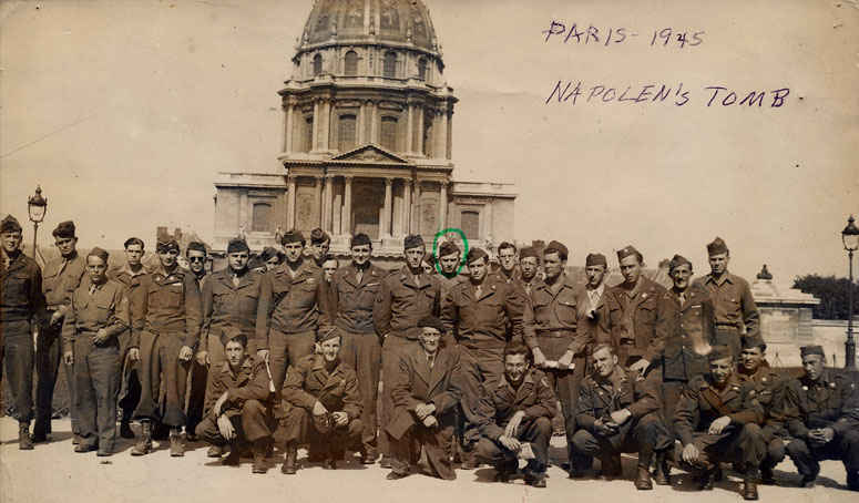 Picture in front of Napoleon's tomb 1946.