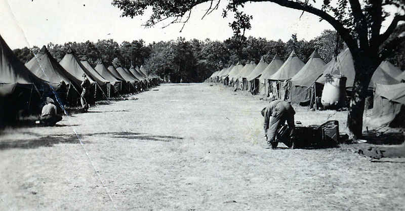 Tent City outside of Lemans, France.
