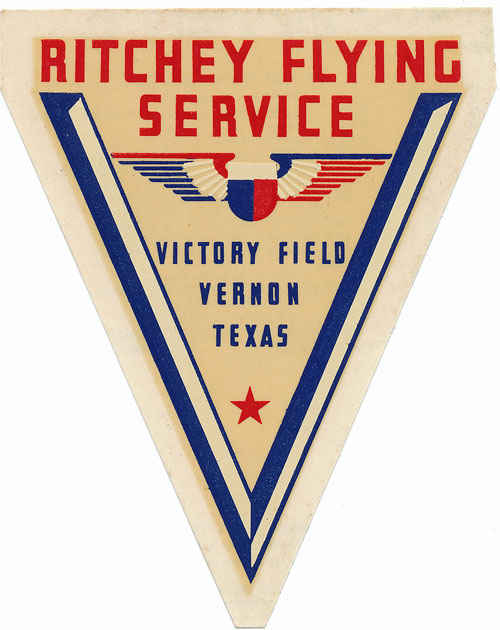 Ritchey Flying Service Victor Field Vernon, Texas.