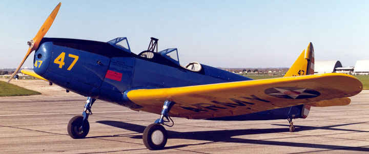 Primary trainer for many combat aviators was the PT-19 Fairchild.