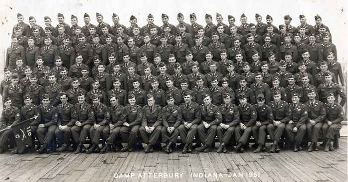 Basic Training, Camp Atterbury, Indiana 1951.