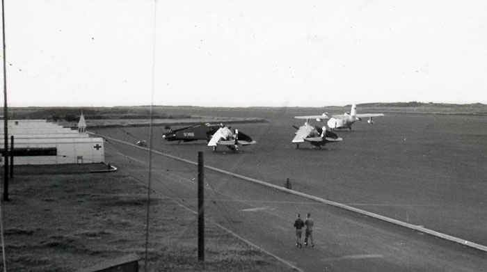 Corair's on the airstrip of Iwo Jima.