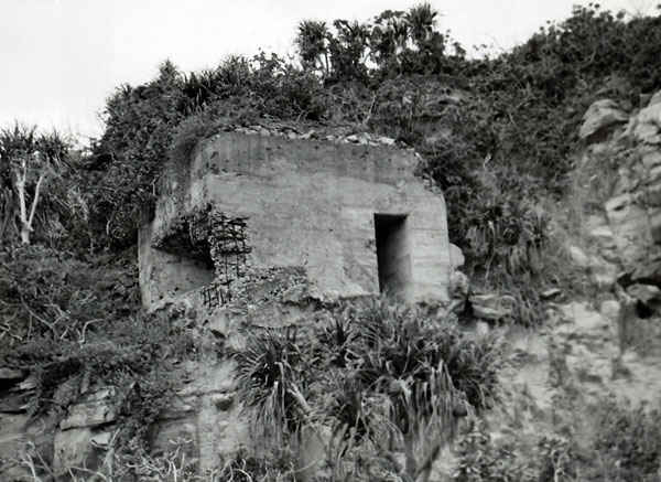 Iwo Jima pillboxes.