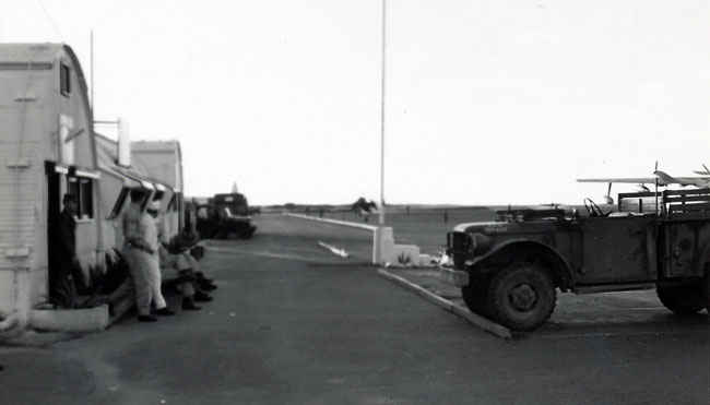 Jeep on Iwo Jima.