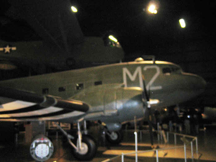 C47 Skytrain. It was the military's version of the DC3. Main all purpose deployment aircraft used in World War 2. Many are still used today.