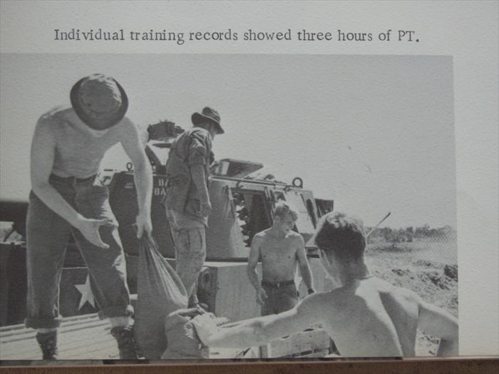 2nd section b btry 1/27 individual training records showed three hrs. of pt.