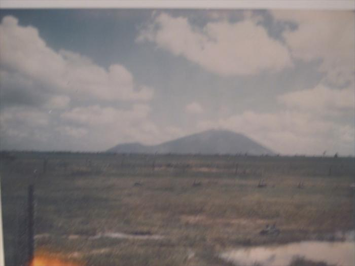 picture of black virgin mountain taken from fire base Washington 1968