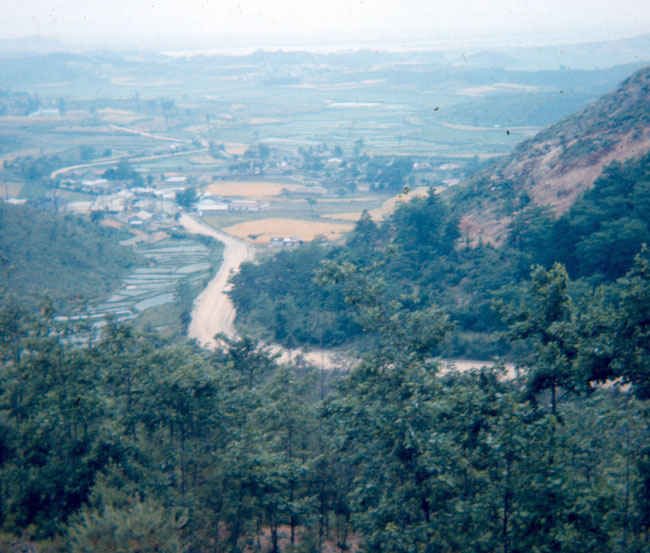 Korean road leading from B Battery compound to radar hill 1973-1974.