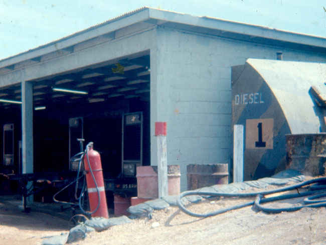 1973-1974 Korea generator shed at radar hill