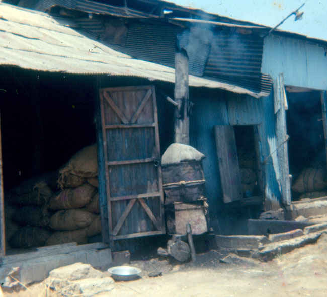 Korea 1973-1974 Feed mill outside of B Battery.