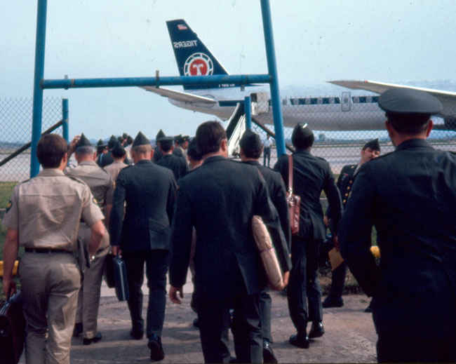 1974 Osan Air Base heading to U.S. from South Korea