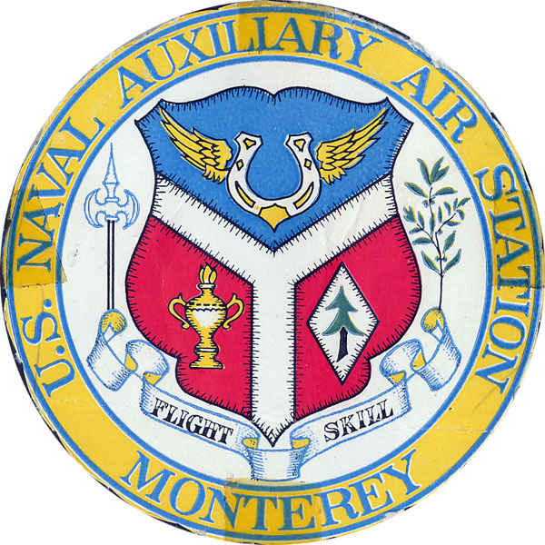 U.S. Naval Auxiliary Air Station, Monterey, California. Known as NAAS.  It provided aircraft for flight proficiency by the Navy. Gene qualified for plane captain on F6F's (F6F Hellcat ), SNJ's (T-6 Texan), SNB's (Beechcraft Expeditor) and JRB's (VR-24).