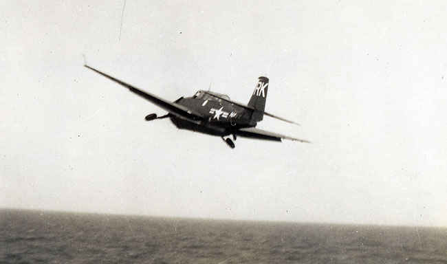 TBM Avenger taking off the Boxer during the Korean War.