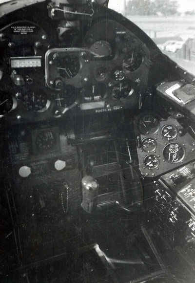Inside the cockpit of a Grumman F6F Hellcat.