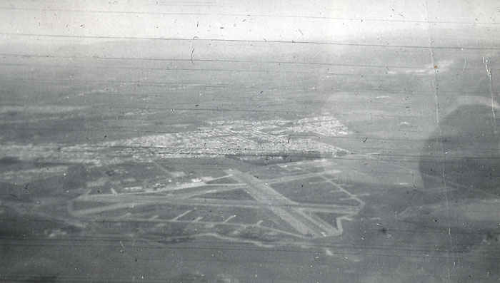 Aerial photo of Salinas Airfield near Monterey County, California.