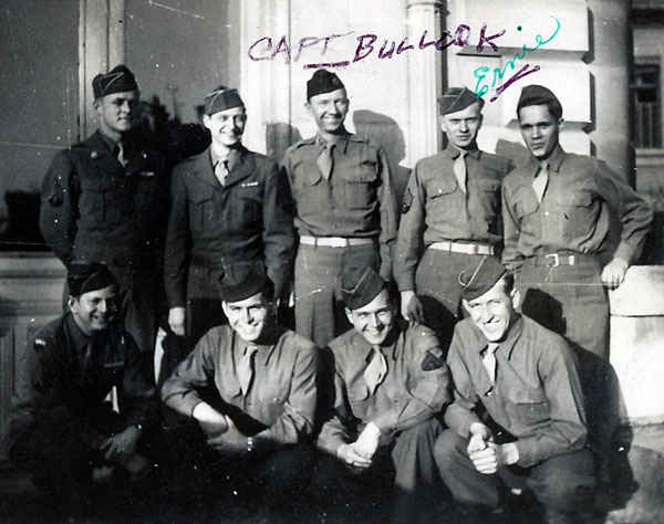 Personnel Office, Lemans France. Captain Bullock is in the top row middle and my grandfather if second to the right top row.