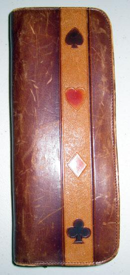 Leather case that held two decks of playing cards that my grandfather carried with him.