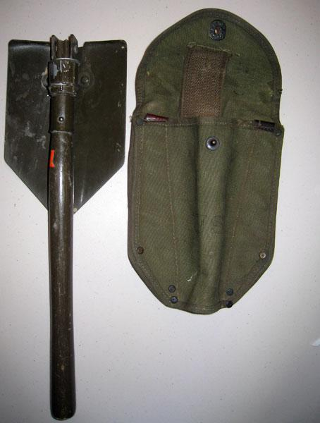Shovel that my grandfather used during the war to dig fox holes.