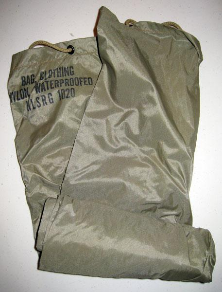 Water proof nylon bag that my grandfather used to keep his valuables from getting wet.