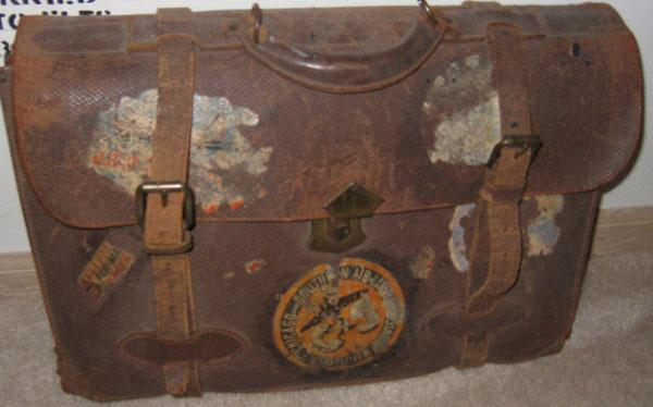 This is the brief case carried by Robert. At times this is all he would have.
