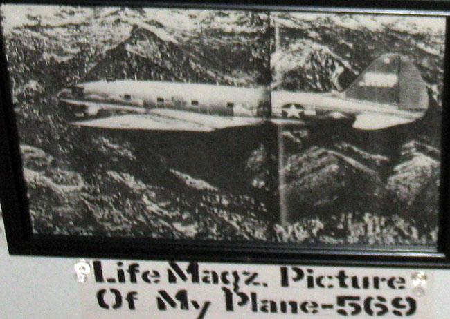 Life Magazine. Picture of C46 number 569 the plane that Robert Arn flew.