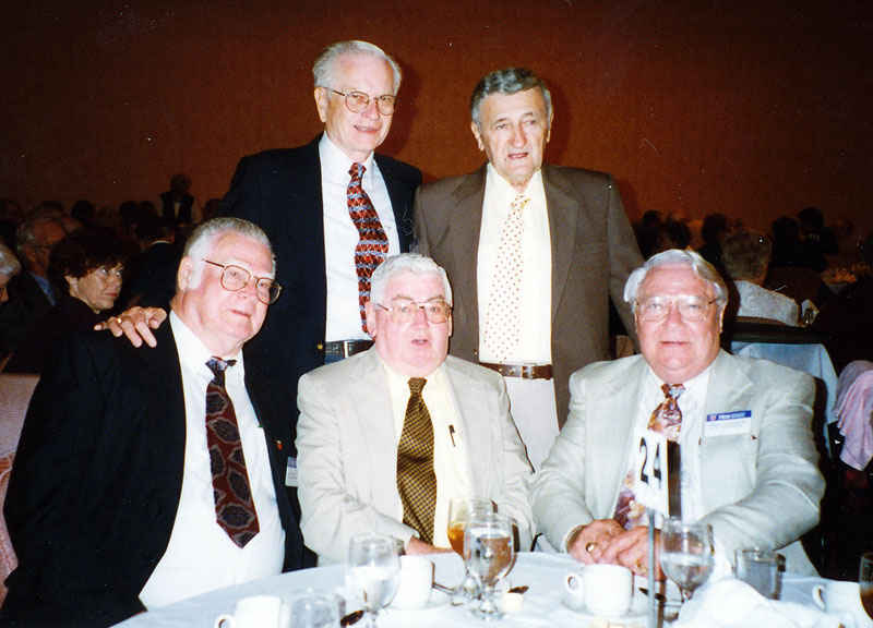 76th Infantry Reunion, Top row Ernie Wolke Andy Tutuska, Ben Wright, David Weiss, Bill Fortschneider