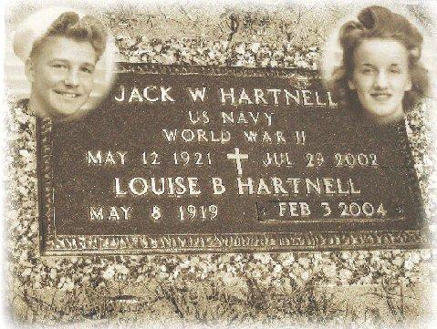 Gravesite for Jack and Louise Hartnell. Located in Traverse City, Michigan.