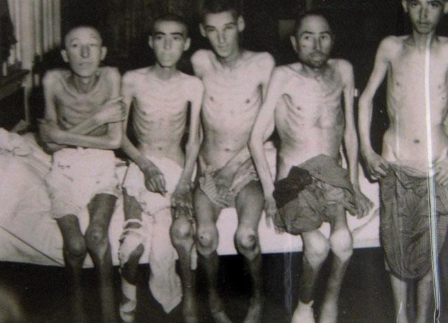 April 13, 1945 liberation of Buchenwald concentration camp. Sterchie's friend was a photographer and since all photographers were ordered to take numerous pictures of the Holocaust Robert was given some pictures..