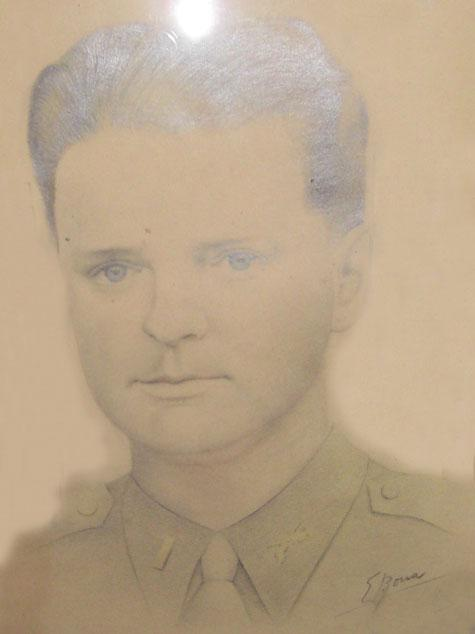 An Italian POW drew this picture of Robert.