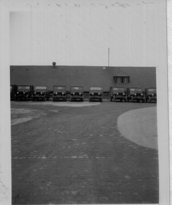Cambrai Fritsch Motor Pool. 1951-1952. 1st Inf Div. Hq.